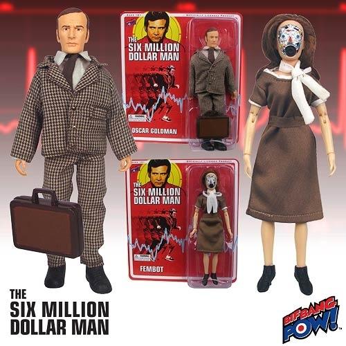 Image of Six Million Dollar Man 8 Inch Actiefiguren - Oscar Goldman & Fembot