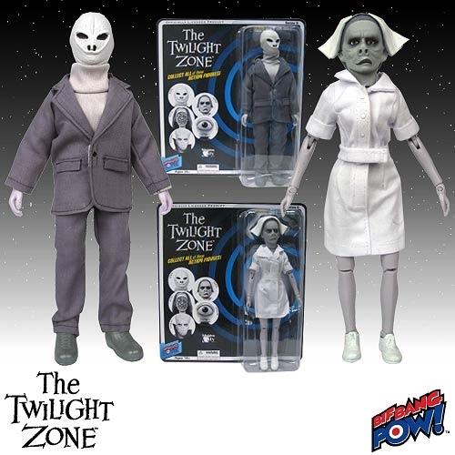 Image of The Twilight Zone 8 Inch Actiefiguren - Alien And Nurse