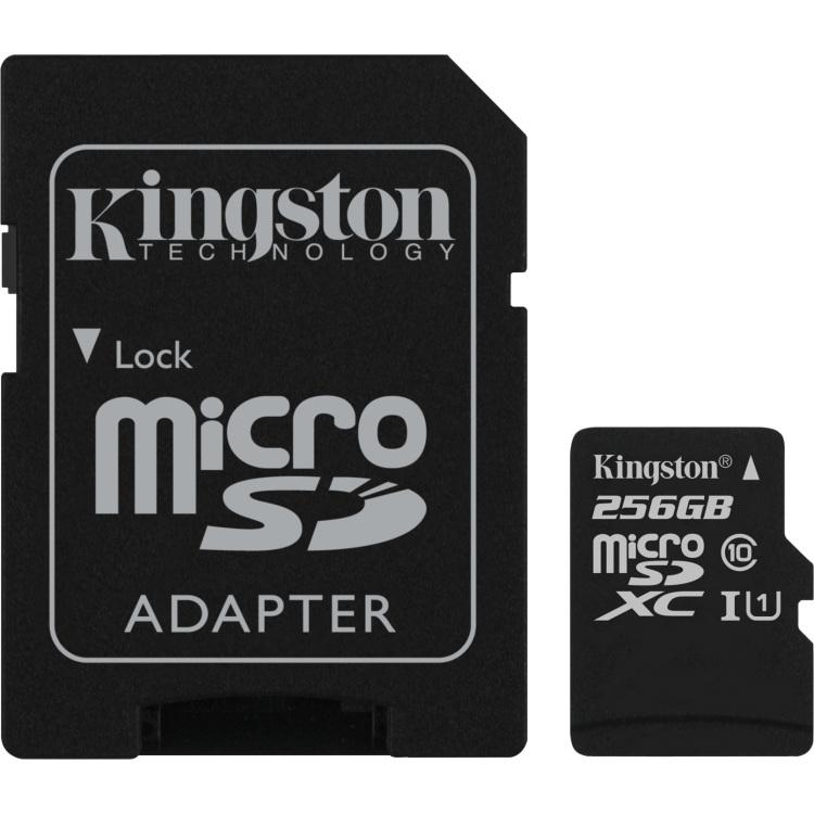 Kingston Technology Flash card Micro-SD256GB Kingston C10 (SDC10G2-256GB)