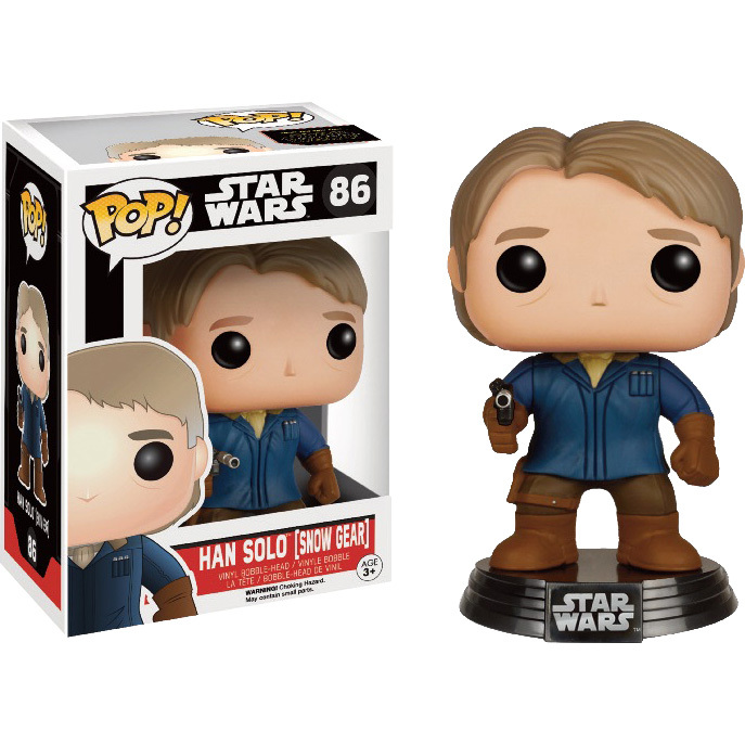 Star Wars The Force Awakens Han Solo Snow Gear Pop! Vinyl Bobble Head
