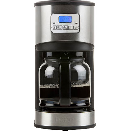 Image of Domo DO479K 1.8l 12kopjes Zwart, Zilver koffiezetapparaat