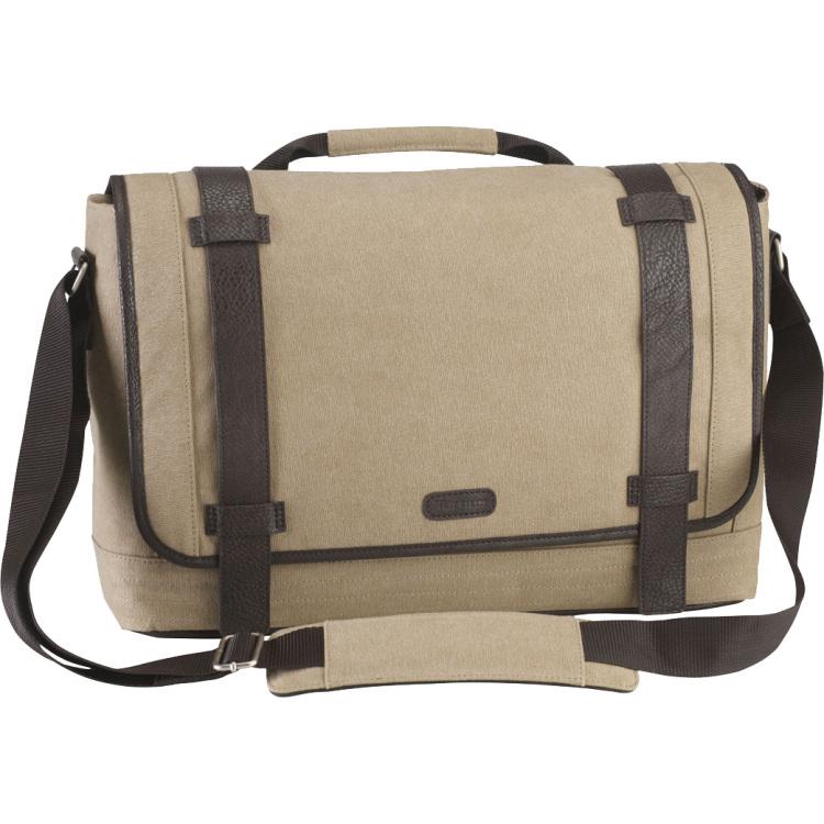 City Fusion 15.6 Canvas Laptop Messenger Bag
