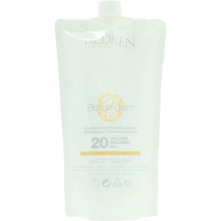 Image of Blonde Glam Conditioning Cream Developer 20 Volume 6%, 1 L