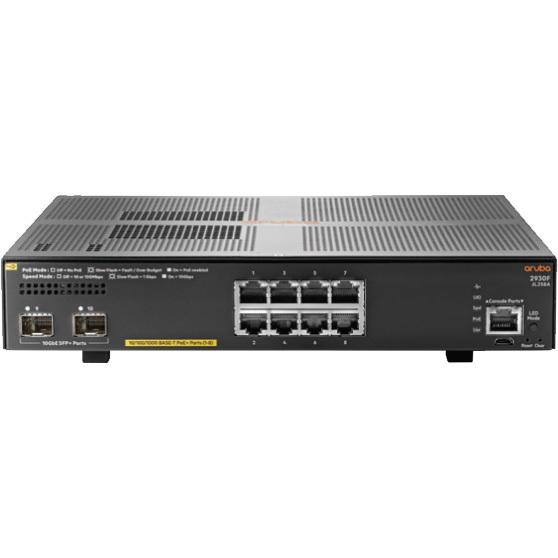 Productafbeelding voor 'Aruba 2930F 8G PoE+ 2SFP+ Switch (JL258A)'
