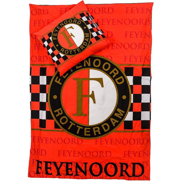 Image of Dekbed Feyenoord Rood Blok: 140x200