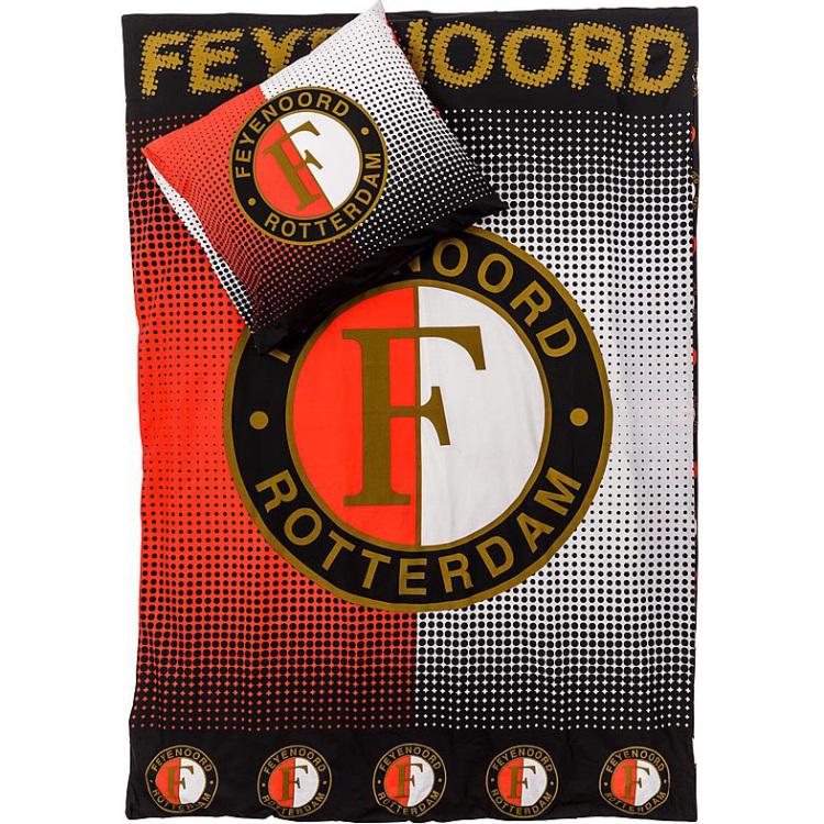 Image of Dekbed Feyenoord Rood/wit/zwart: 14