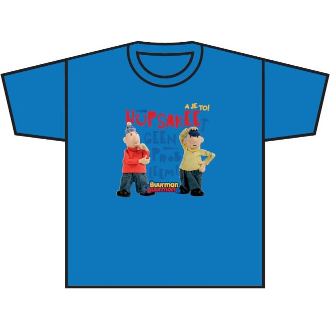 Image of T-shirt Azuurblauw, Maat 110/116