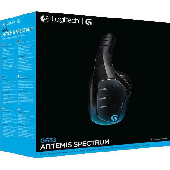 Logitech G633 Artemis Spectrum RGB 7.1 Surround Gaming Headset USB EMEA (981-000605)