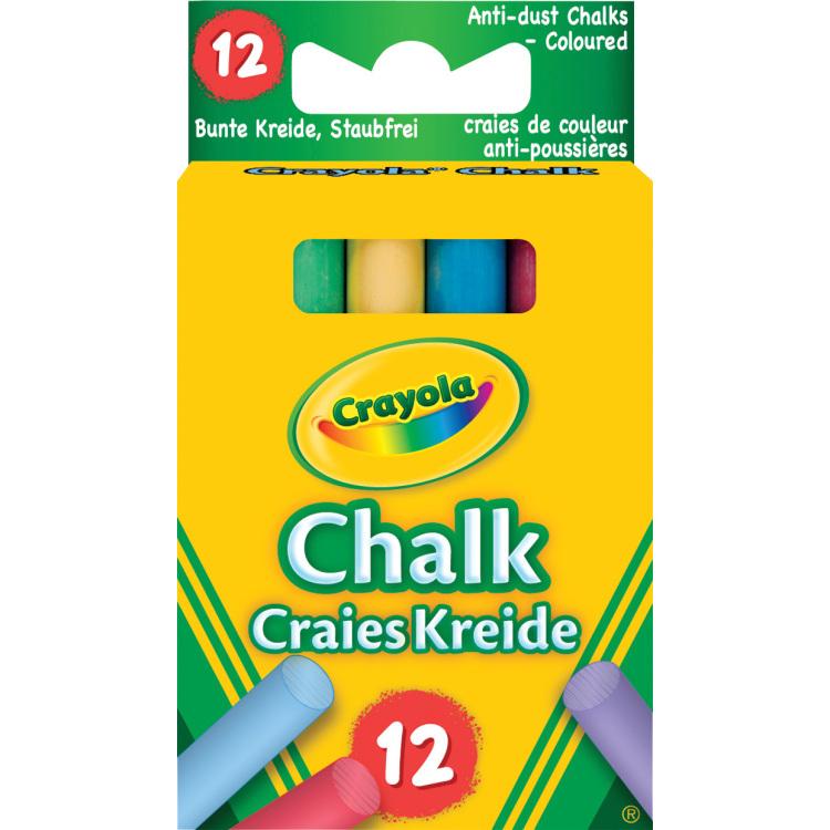 Image of 12 Gekleurde bordkrijtjes