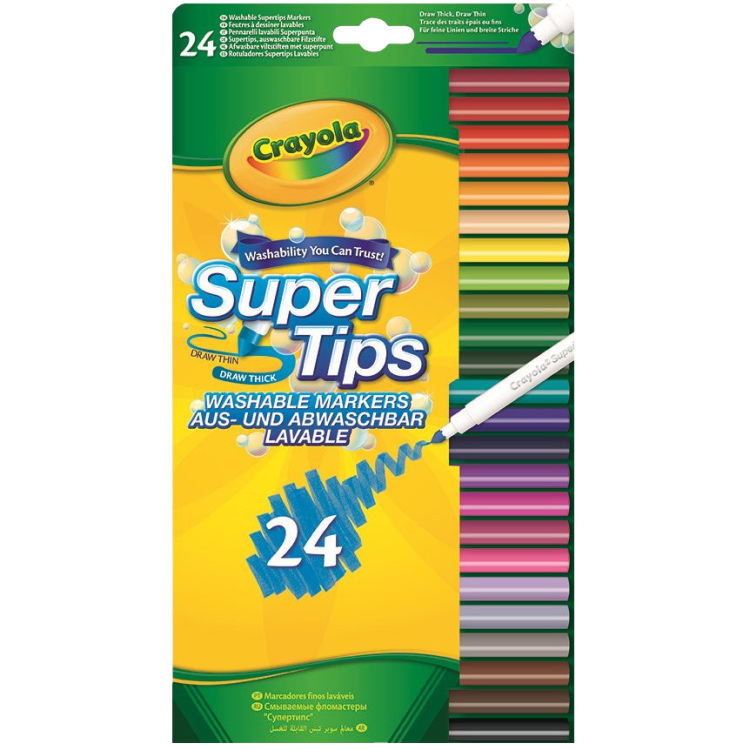 Image of 24 Viltstiften Met Superpunt