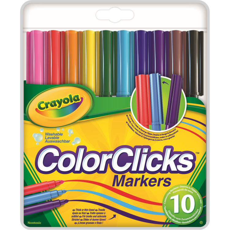 Image of 10 Colorclicks Viltstiften