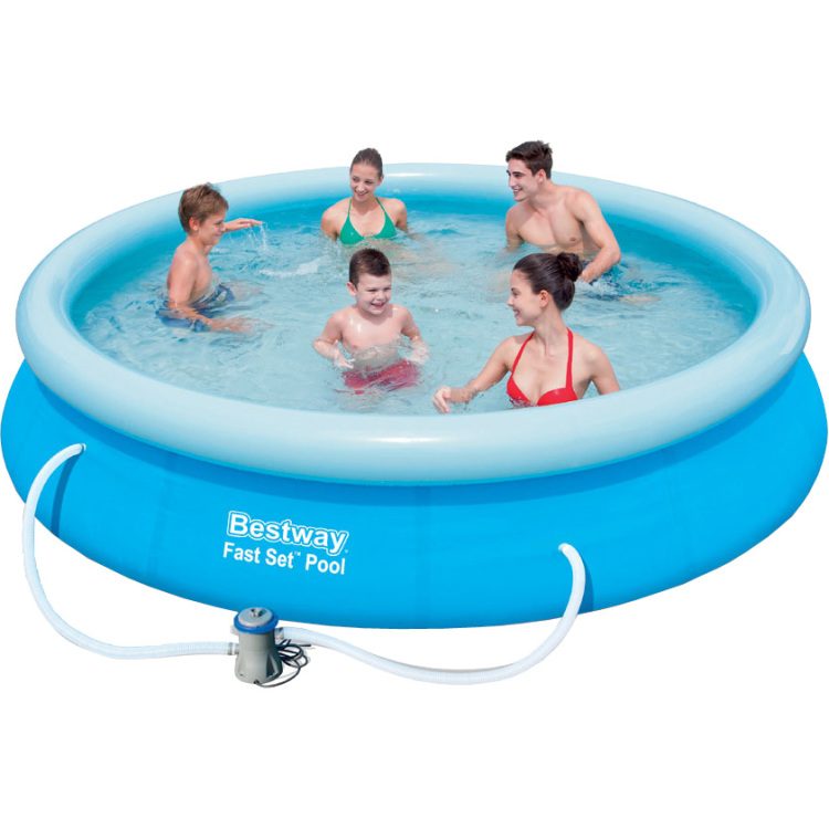 Image of Bestway Fast Set Pool Zwembad 3.66m x 76cm, set met pomp - blauw