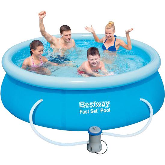 Image of Bestway Fast Set Pool Zwembad 2.44m x 66cm, set met pomp - blauw