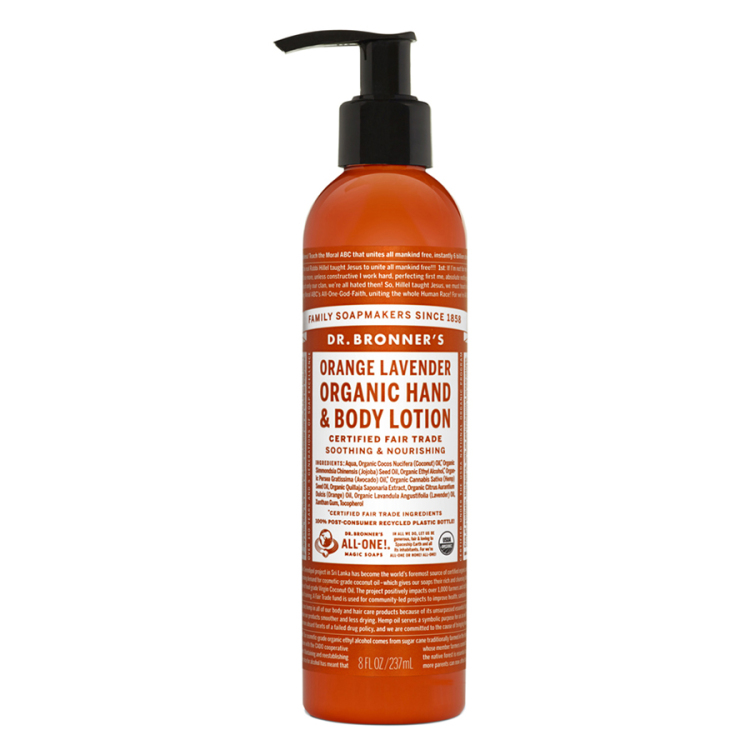 Image of Orange Lavender Organic Hand & Body Lotion, 237 Ml
