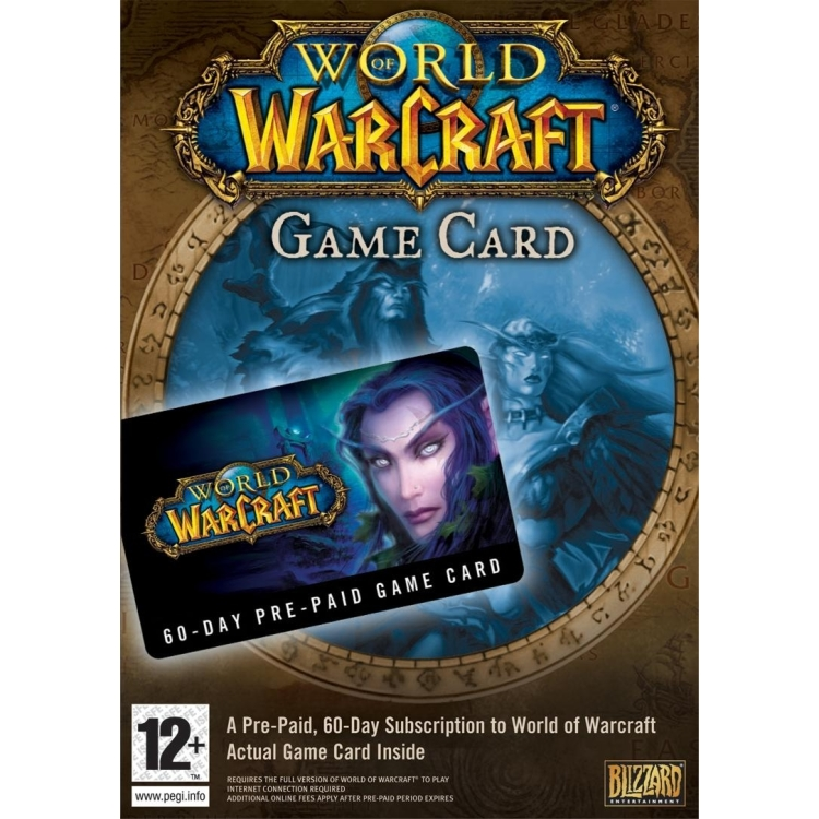 Image of Blizzard World of Warcraft: 60-Day Pre-Paid Game Card