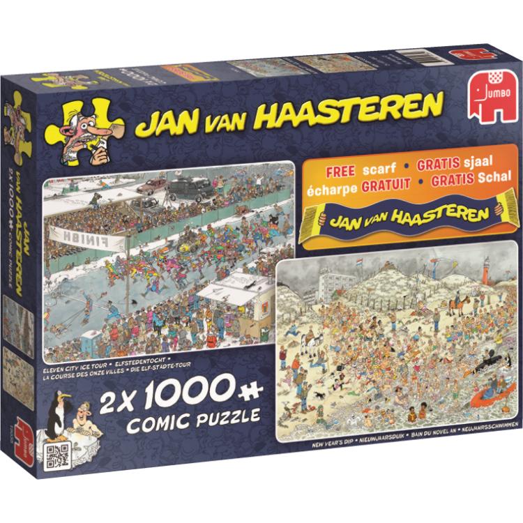 JvH comic puzzels 2x1000 stuks