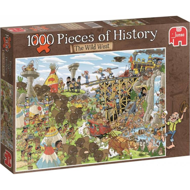 Jumbo Pieces of history puzzel het wilde westen 1000 stukjes