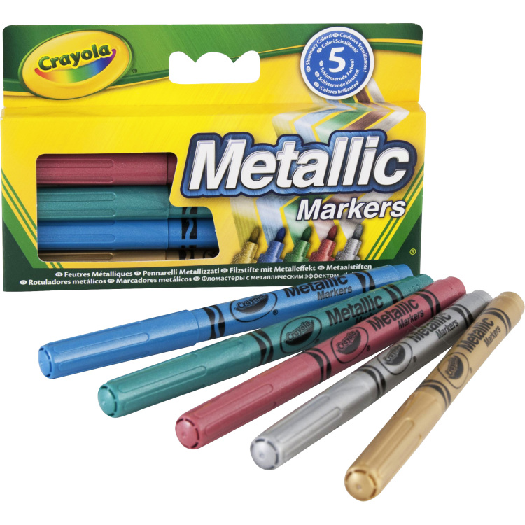 Image of 5 Metallic viltstiften
