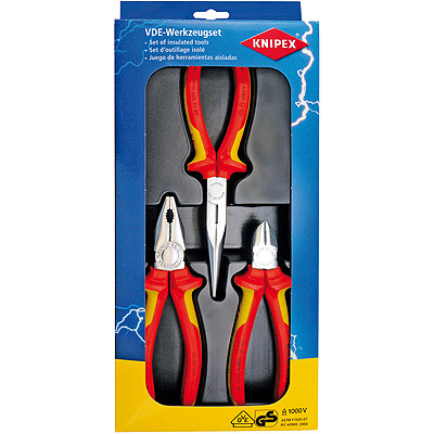 3-delig VDE tangenset KNIPEX 00 20 12 Knipex 00 20 12