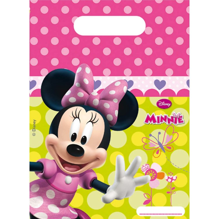 Image of 6 Partybeutel Minnie Mouse