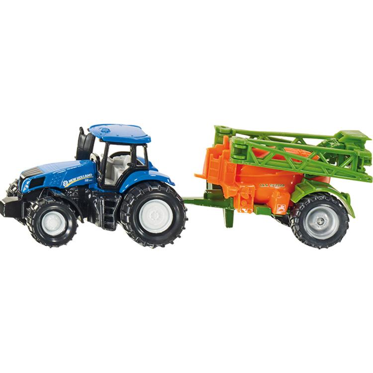 Siku Tractor met Veldspuit - Blauw