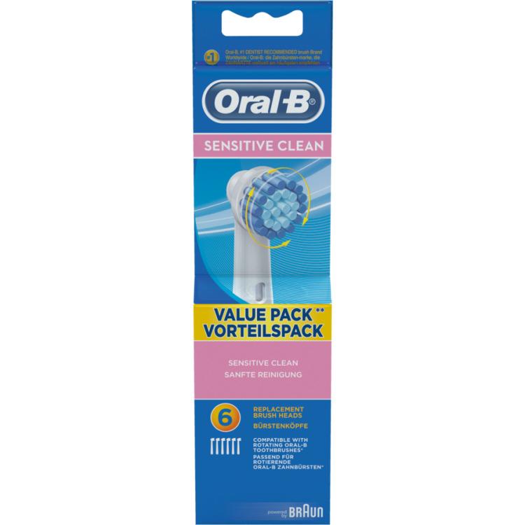 Oral B Opzetborstels Sensitive Clean 6stuks