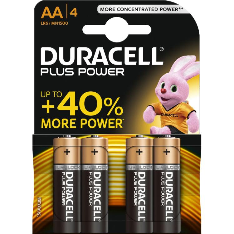 Duracell Batterijen AA Plus Power Duralock LR6 4 Stuks
