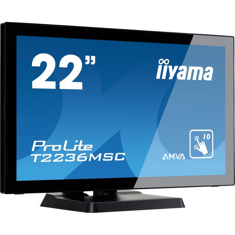 21 5i LED LCD PCAP Bezel Free 10P TouchScreen  1920x1080  AMVA-panel  Flat Bezel Free Glass Front  VGA  DVI-D  HDMI  213cd/m  USB 3.0-Hub (4xOut)  3000:1 Stati