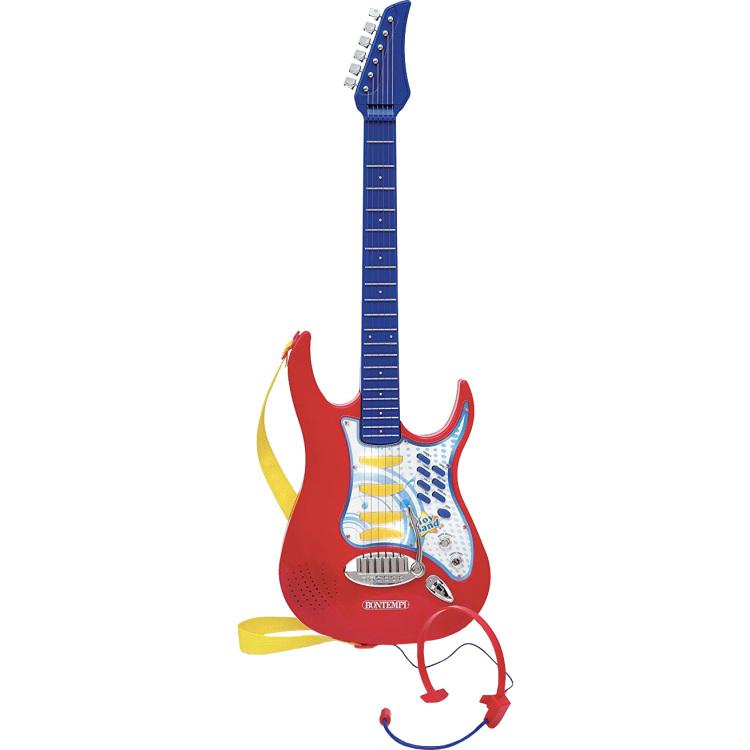 Image of Elektrische Rock Gitaar Met Headset