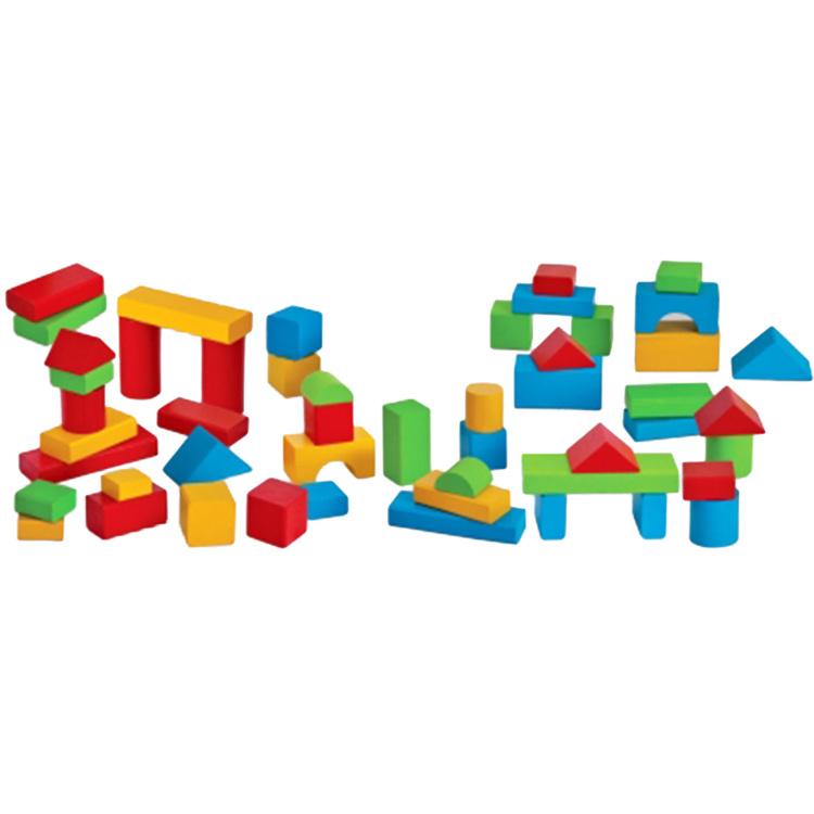 HEROS Houten bouwstenen Baby-Box met 50 onderdelen