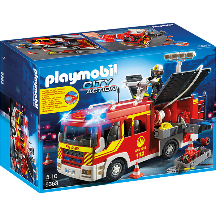 5363 Brandweer pompwagen met licht en sirene