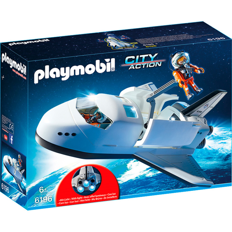 6196 Playmobil City Action Space Shuttle met bemanning