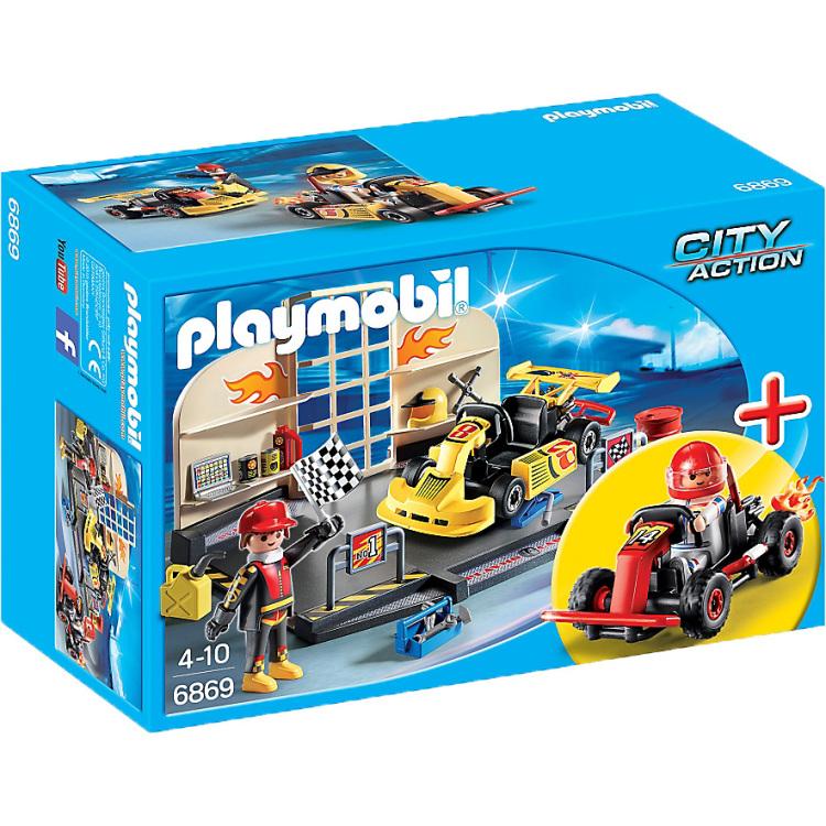 PLAYMOBIL City Action karting garage 6869