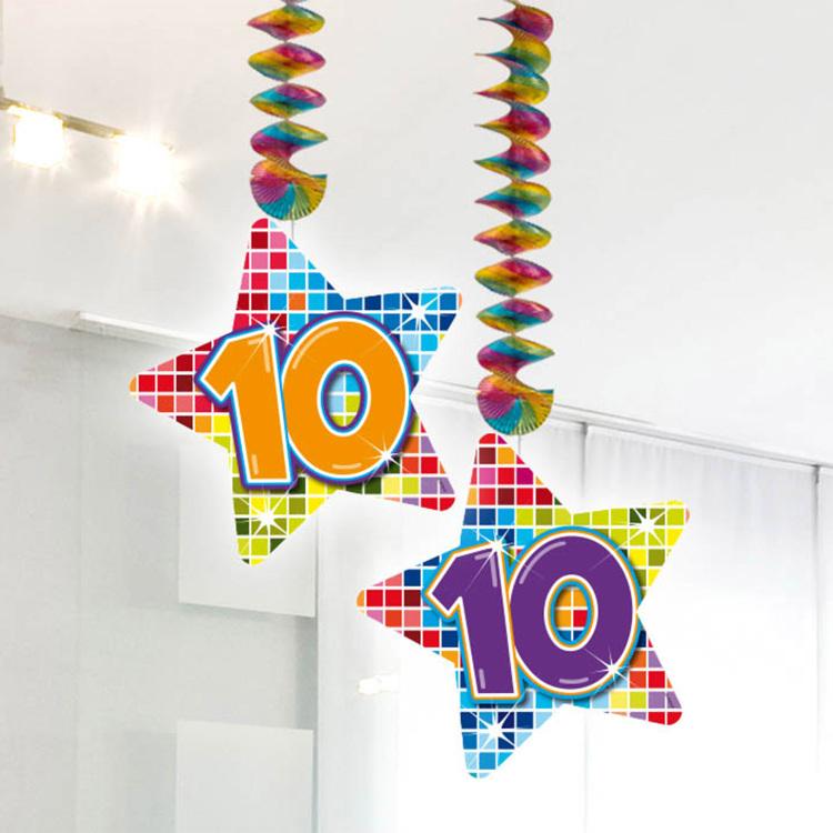 Image of 10 Jaar Blocks Hangdecoratie, 2 Stuks