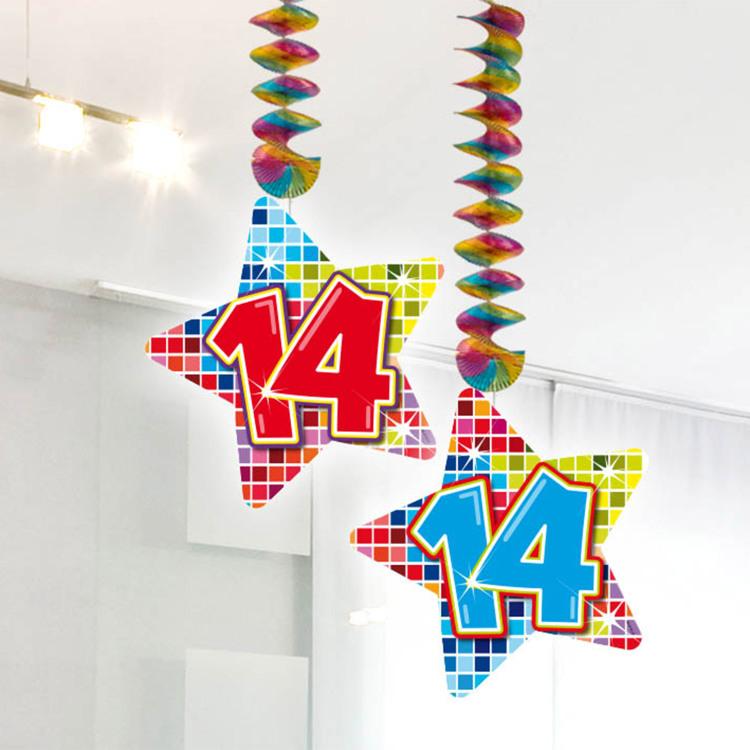 Image of 14 Jaar Blocks Hangdecoratie, 2 Stuks