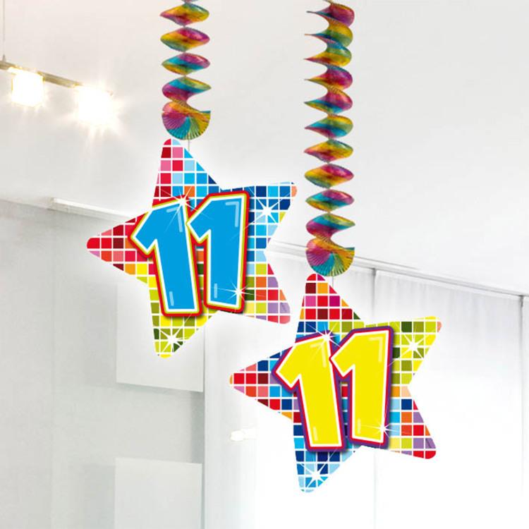 Image of 11 Jaar Blocks Hangdecoratie, 2 Stuks
