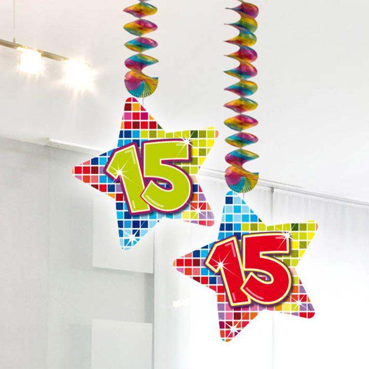 Image of 15 Jaar Blocks Hangdecoratie, 2 Stuks