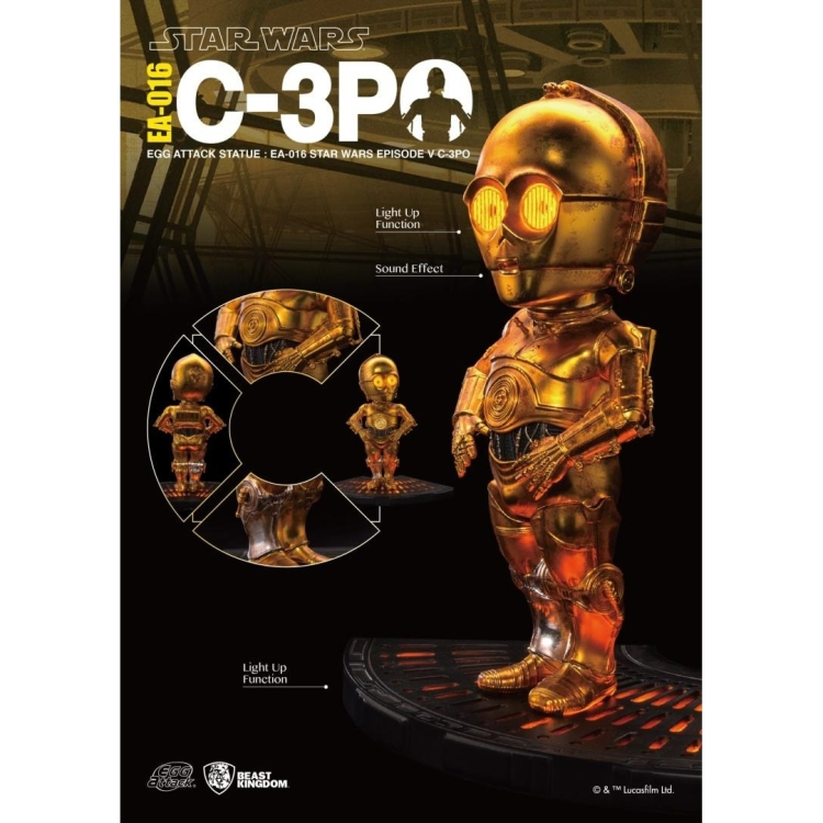 Image of Star Wars The Empire Strikes Back: C-3PO Egg Attack Statue