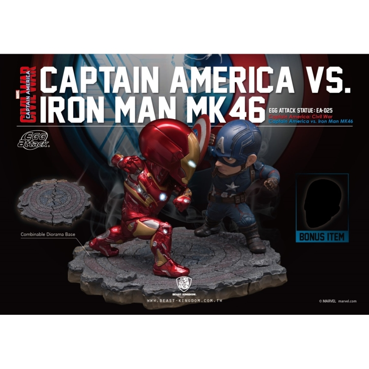 Image of Marvel Egg Attack: Civil War - Captain America Vs Iron Man Statue