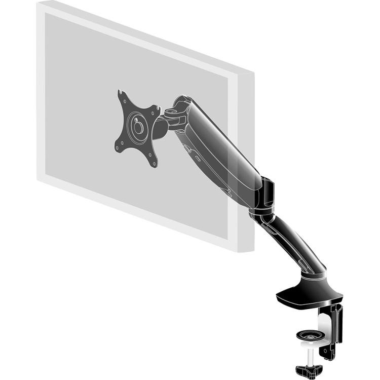Productafbeelding voor 'Enkele gasveer monitorarm DS3001C-B1'