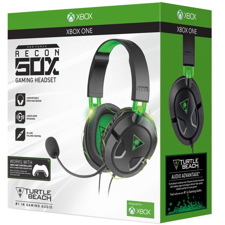 Bigben Interactive Turtle Beach, Ear Force RECON 50X (PC-PS4-Xbox One-MAC-Mobile) (TBS-2303-REC50X)