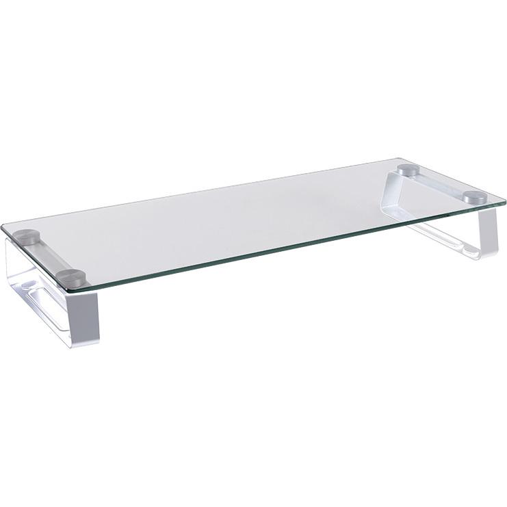 Glass tabletop monitor riser, max. 20 kg kopen