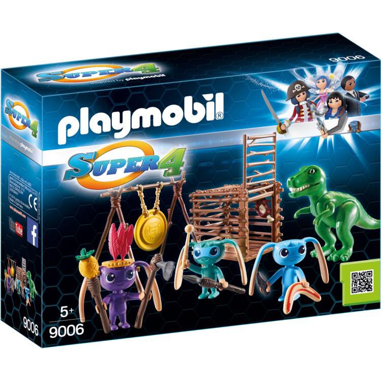 Alien krijgers met T-Rex Playmobil (9006)