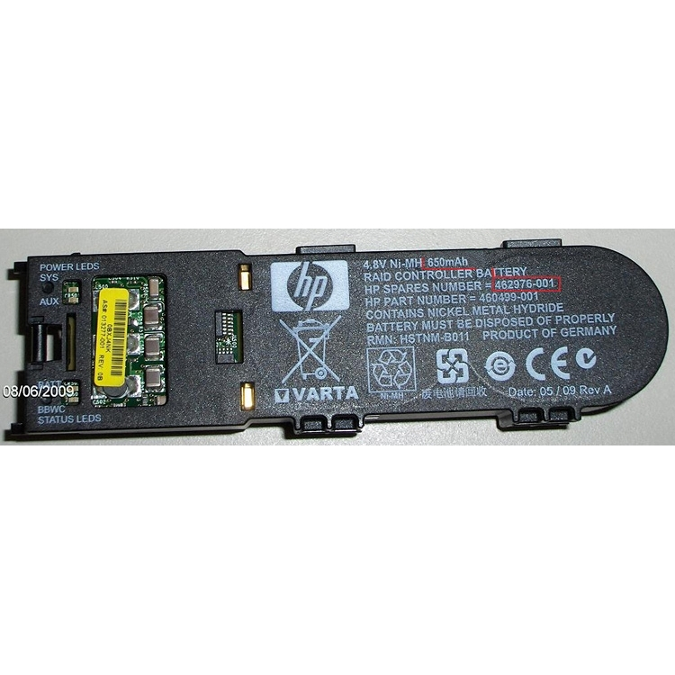 HP Battery backed write cache (BBWC) battery module Ni-MH, 4.8V, 650mAh (462976-001)