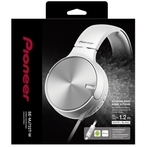 Pioneer SE-MJ722 On-Ear koptelefoon Wit