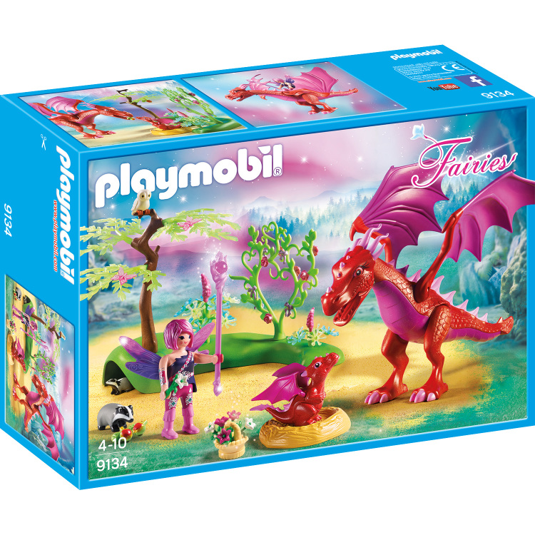 Drakenhoeder met rode draken Playmobil (9134)