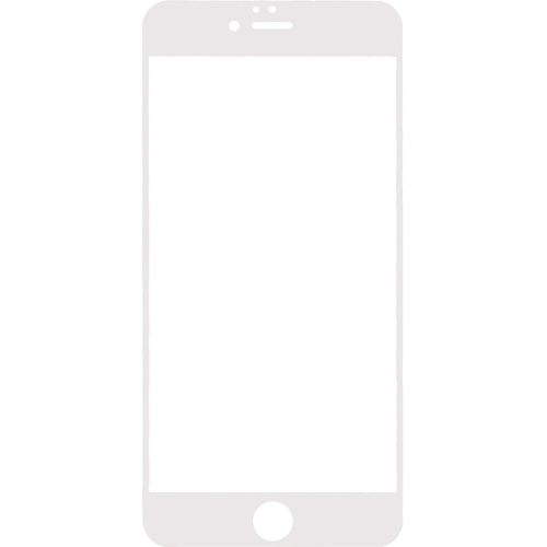 Mobilize Full Coverage Safety Glass Screen Protector Apple iPhone 6 Plus White