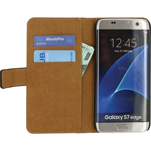 Mobilize Classic Wallet Case Samsung Galaxy S7 Edge Zwart