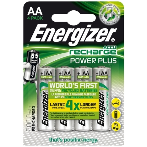 Energizer AA oplaadbare batterij (penlite) NiMH 1.2 V 2000 mAh 4 stuks