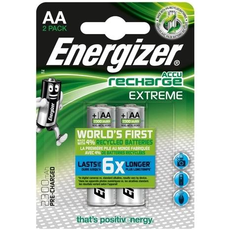 Energizer AA oplaadbare batterij (penlite) NiMH 1.2 V 2300 mAh 2 stuks